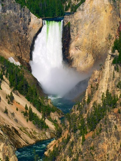 Grand Canyon of the Yellowstone Lower Falls -- Possibly the most photographed waterfall on the planet, here is my modest addition to the artform.